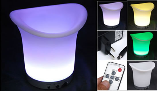 Illuminated Ice Bucket with Remote Control