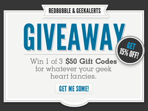 RedBubble Gift Certificates Giveaway and Coupon Code