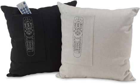 Organic Cotton Remote Pocket Pillow