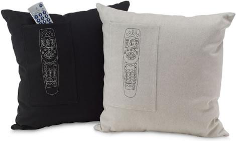Organic Cotton Remote Pocket Pillow