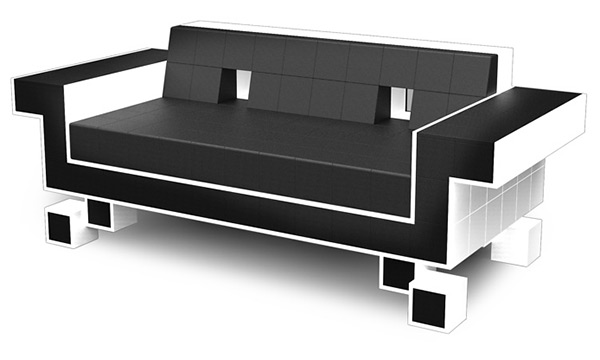 Retro Space Invaders Couch