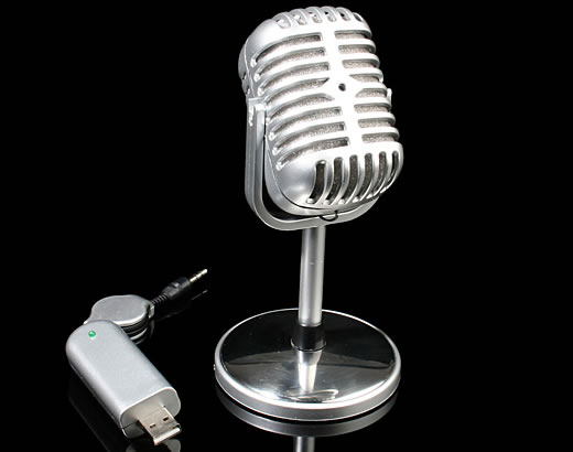 Retro Wireless USB  Microphone