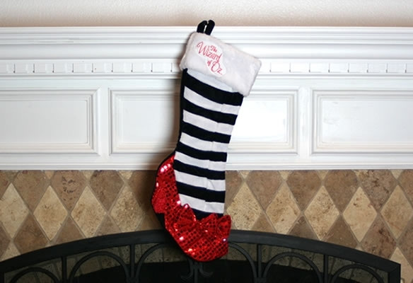Wizard of Oz Ruby Slipper Christmas Stocking