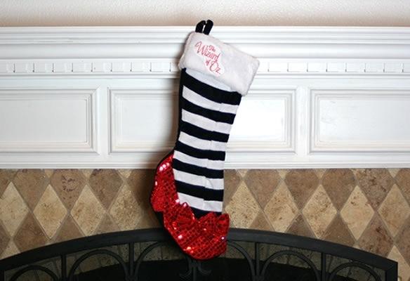 Wizard of Oz Ruby Slipper Christmas Stocking