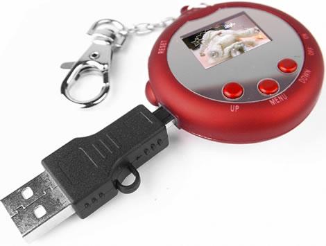 Santa 1.1-Inch Digital Photo Frame Keyring
