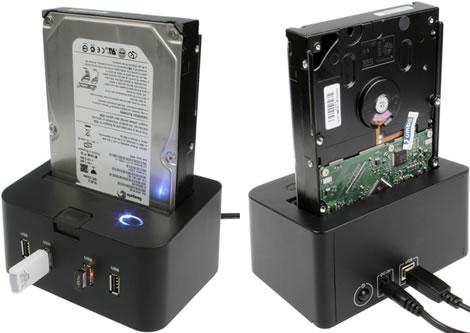 SATA HDD Dock with 4-Port USB Hub