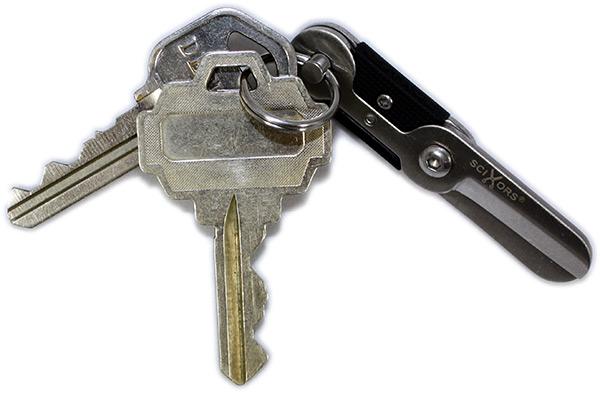 SciXors Micro Scissors Key Ring