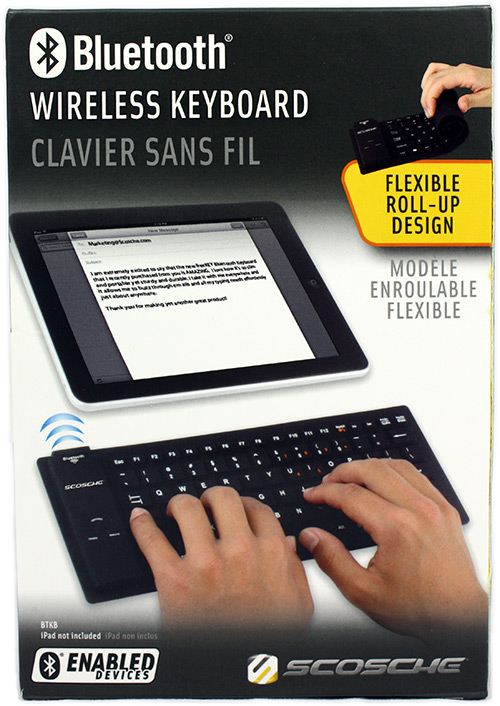 Scosche Flexible Bluetooth Wireless iPad Keyboard