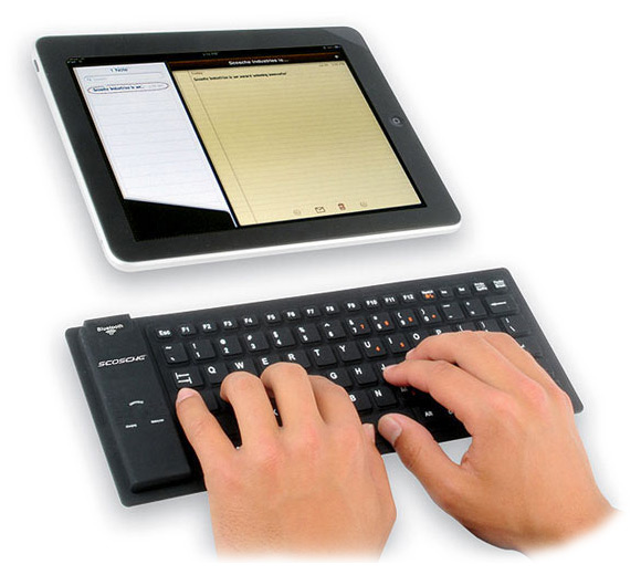 Roll Up Bluetooth Keyboard Android: Scosche FreeKEY Roll-up Wireless Keyboard Review