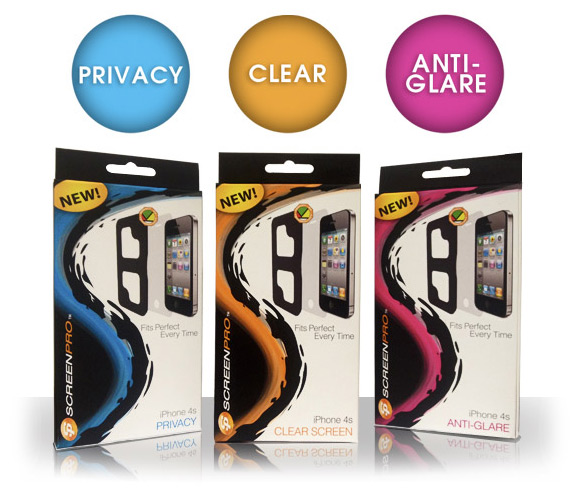 ScreenPro iPhone 4S Privacy Anti-Glare Clear Screen Protectors
