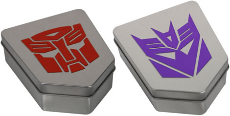 Seiko Transformers Watch Tins - Autobot & Decepticon