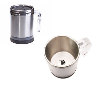 self stirring mug empty