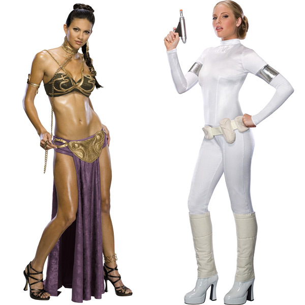 Sexy Slave Princess Leia and Queen Amidala Costumes