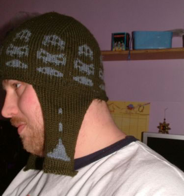 Space Invaders Earflap Hat