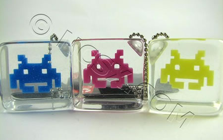 Space Invaders Keychains