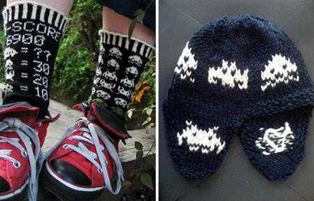 Space Invaders Socks & Baby Hat