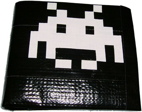 Space Invaders Duct Tape Wallet