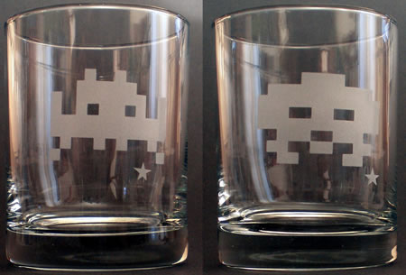Space Invaders Whisky Glasses
