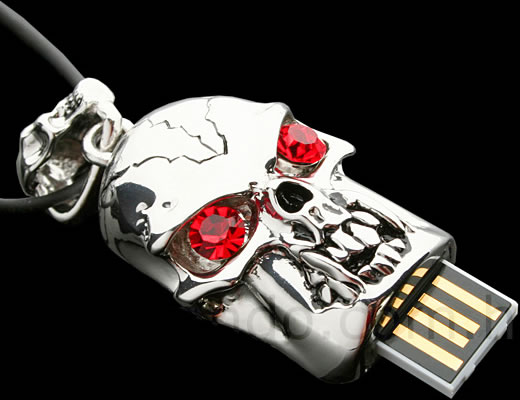 USB Skeleton Necklace Flash Drive