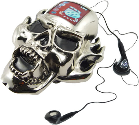 Human Skull MP3 Player Belt