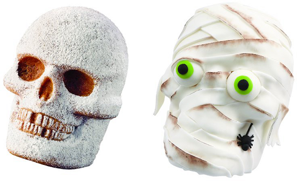 Skull Cake and Mummy Cake