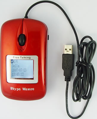 Skype Mouse Phone with Sliding Cover