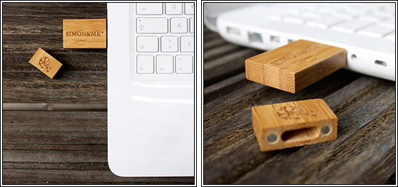 SM Woodpecker Wooden Flash Memory Stick