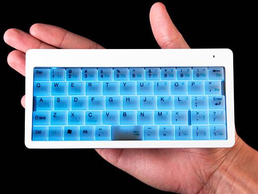 Illuminated Super-Tiny Wireless Keyboard