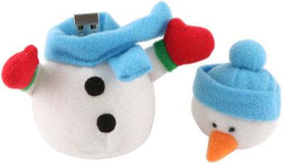Plush Snowman USB Drive