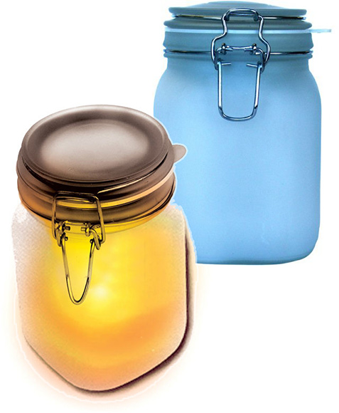 Solar Sun and Moon Jars