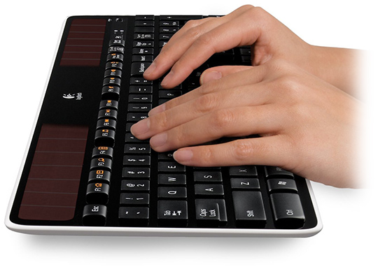 Solar Wireless Computer Keyboard