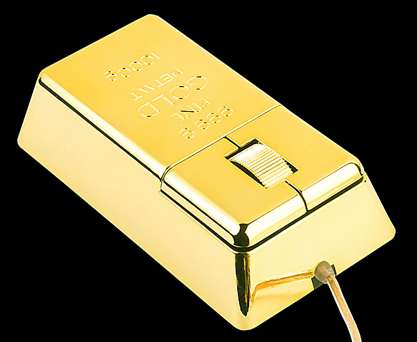 USB Gold Bar Computer Mouse