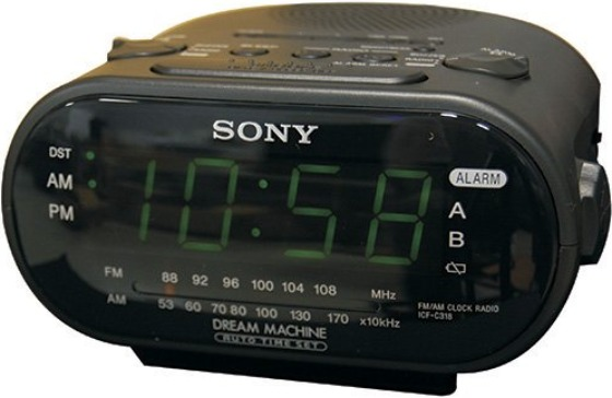 sony alarm clock with spy camera. Black Bedroom Furniture Sets. Home Design Ideas
