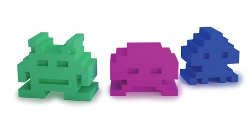 Space Invader Erasers