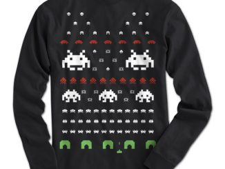 Space Invaders Ugly Christmas Sweater T-Shirt