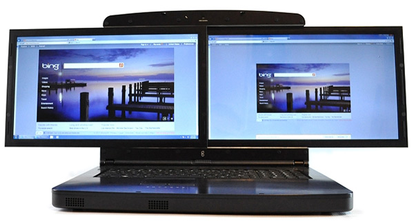 SpaceBook Dual Display Screen Laptop Computer