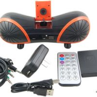 Portable USB Speaker with Webcam