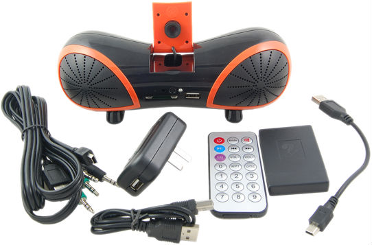 Portable USB Speaker with Webcam