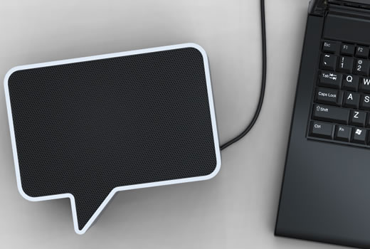 Speak-er Speech Bubble Speaker