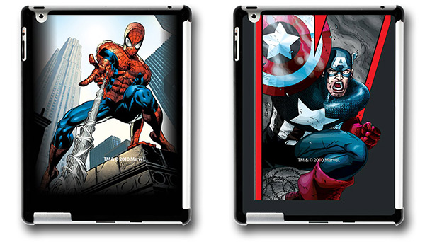 Spiderman and Captain America Xgear iPad2 Cases