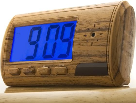 Spy Camera Alarm Clock