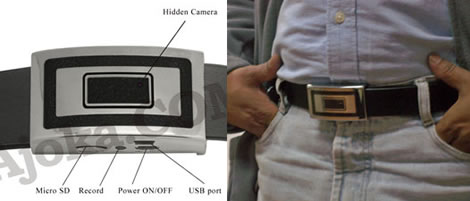 Spy Camera Belt Buckle
