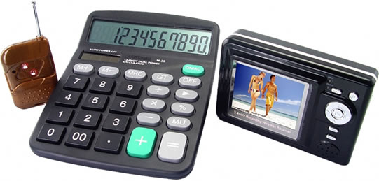 Calculator Spy Camera with Wireless LCD Receiver
