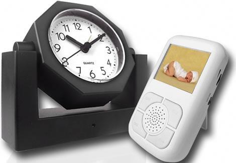 Wireless Spy Camera Alarm Clock