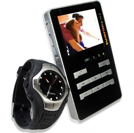 Spy Camera Watch with Wireless LCD Receiver