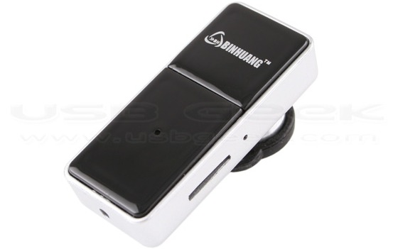 Spy Camera Bluetooth Headset