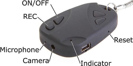 Spycam Car Keychain Features