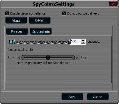 SpyCobra Deluxe Settings