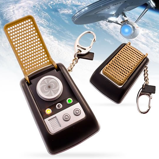 Star Trek Communicator Keychain with Sound Effects