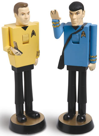 Spock and Kirk Star Trek Nutcrackers
